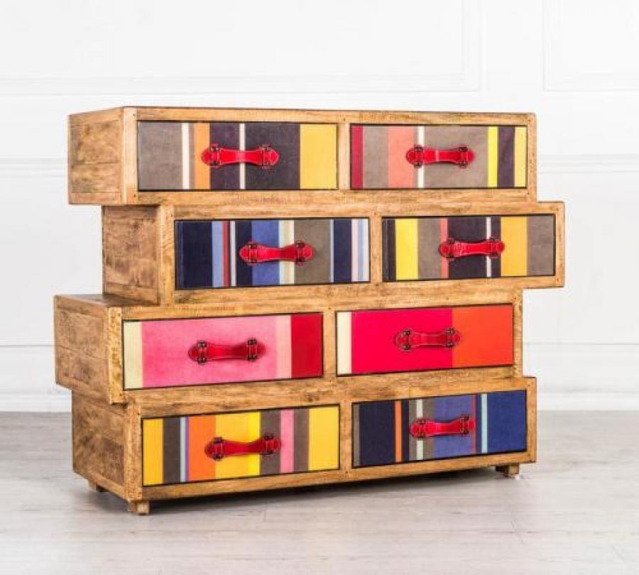 como' 8 cassetti stones colours weal030 | cassettiere-como ... - Cassettiera Con Ruote Big Bobo