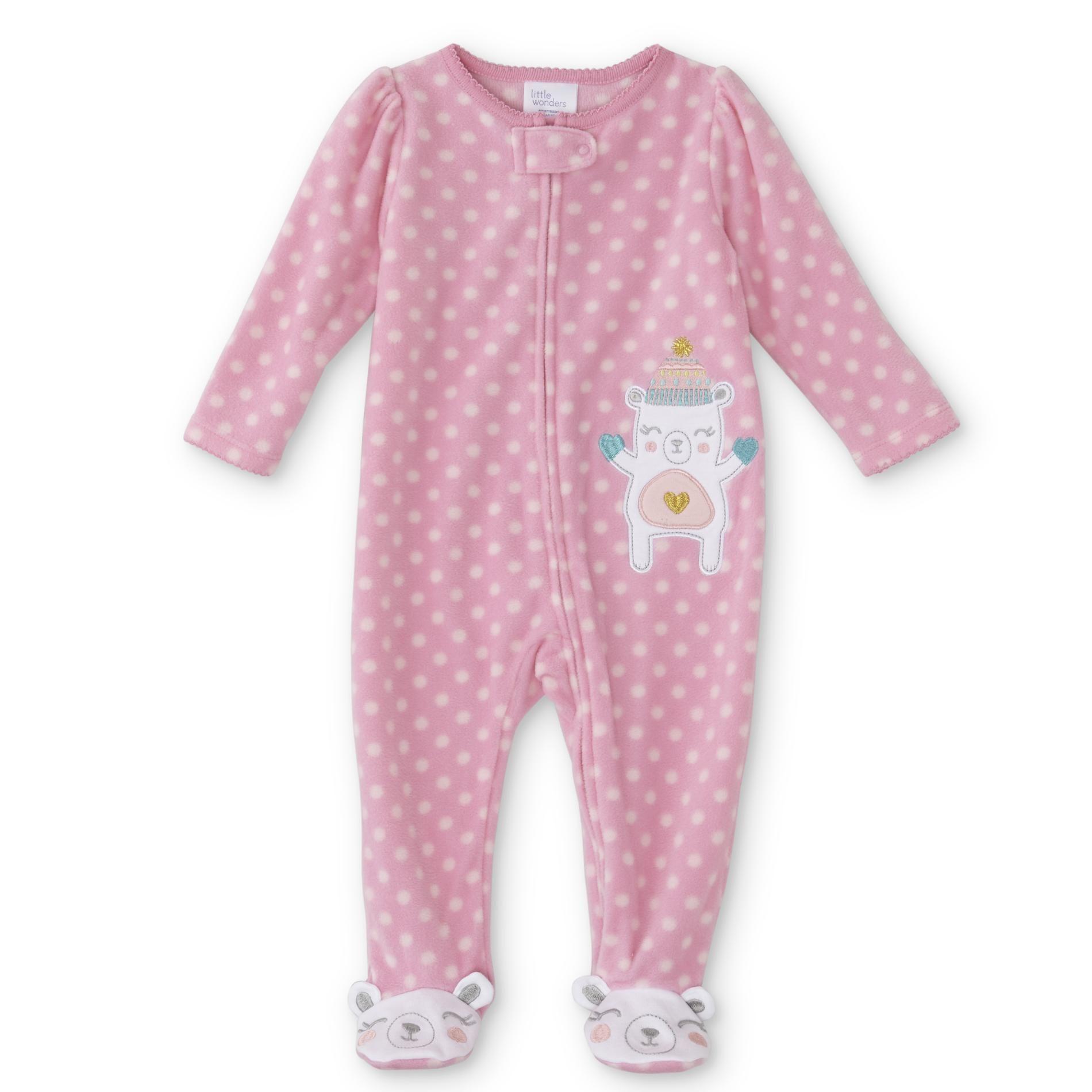 f29794fc9ea0 Little Wonders Infant Girls  Fleece Sleeper Pajamas - Bear