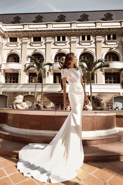 METIS Detachable wedding dress, overskirt, sparkly