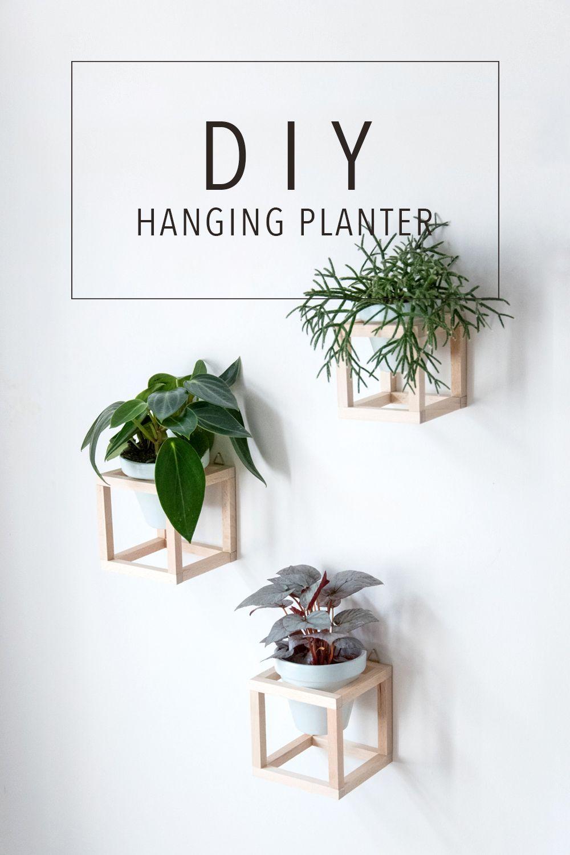 wohnen mit pflanzen diy h ngende pflanzenhalter diy hanging planter planters and tutorials. Black Bedroom Furniture Sets. Home Design Ideas
