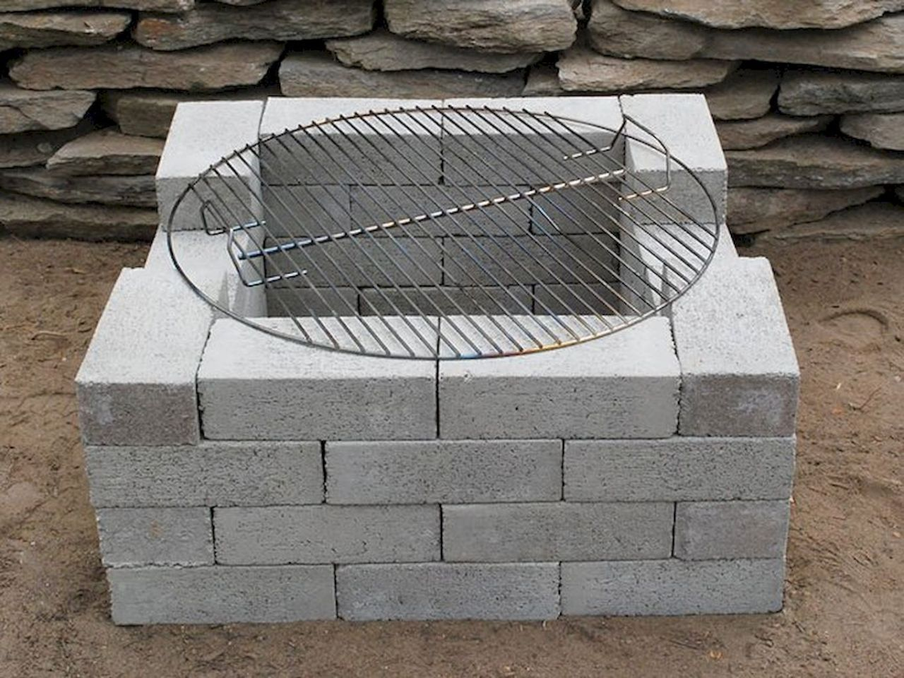 DIY Cinder Block Home Decor Ideas 64   Cinder block fire ... on Cinder Block Fireplace Diy id=47980