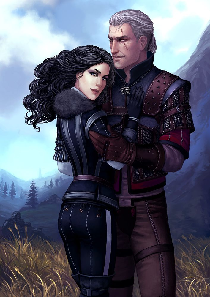 Geralt And Yennefer The Witcher The Witcher Game The Witcher Books
