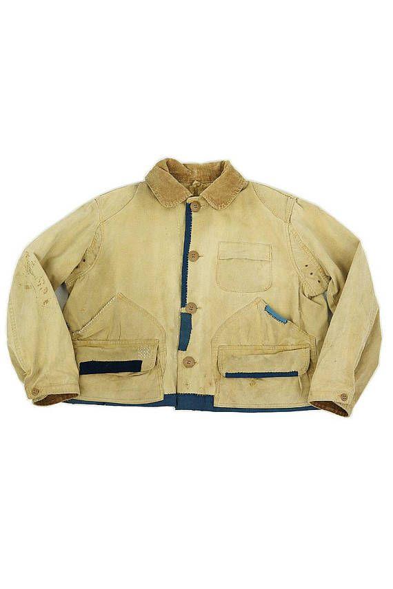 790644ed3 US vintage patchwork hunting short jacket with Japanese | vintage ...