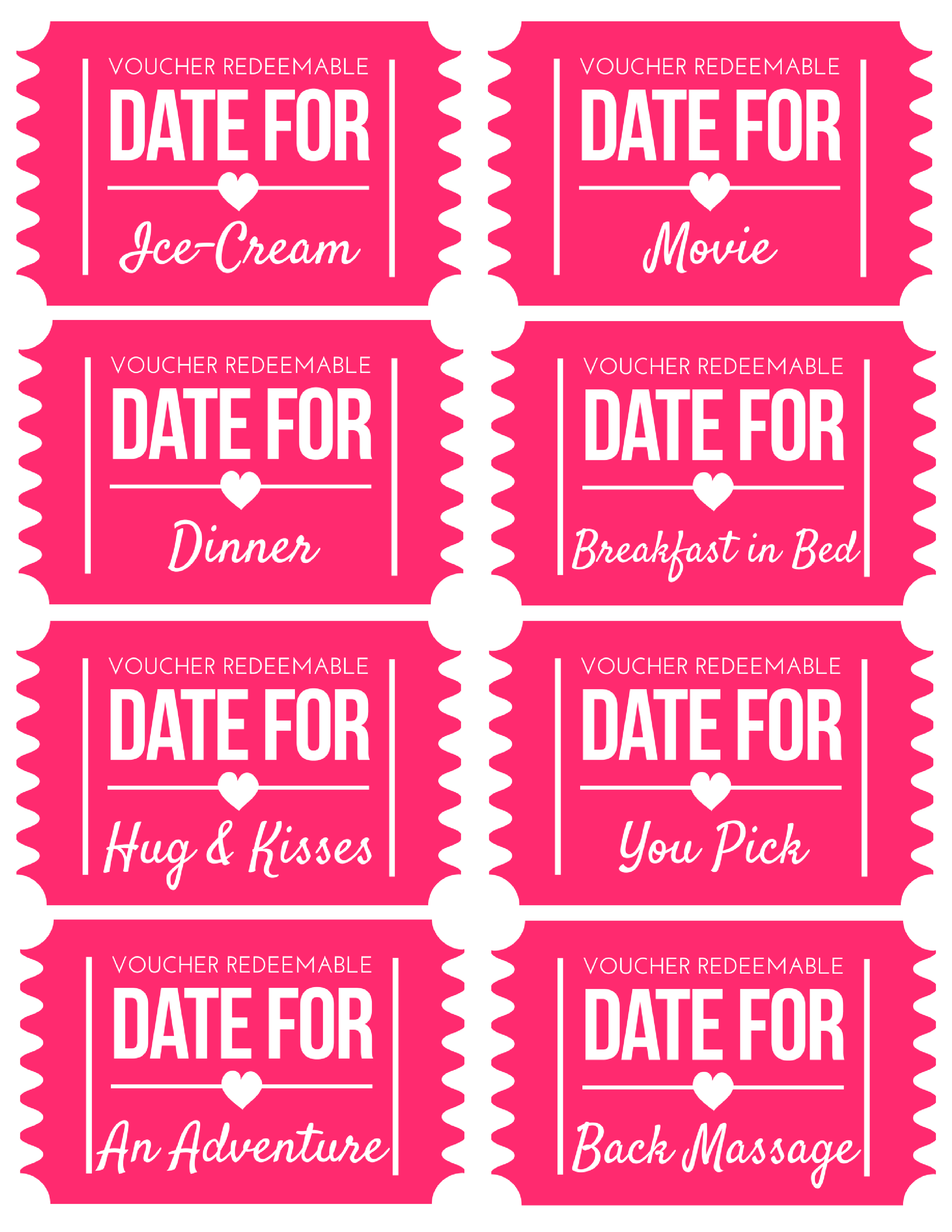 Free Printable Valentines Day Coupons | Coupons for