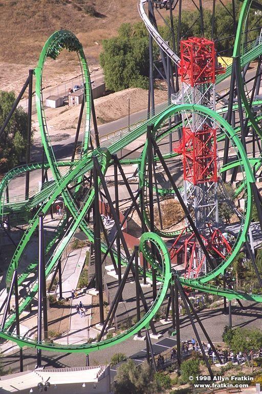Riddler S Revenge Six Flags Magic Mountain Theme Parks Rides Scary Roller Coasters Amusement Park Rides