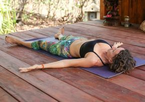 yin yoga sequence for an open heart with images and