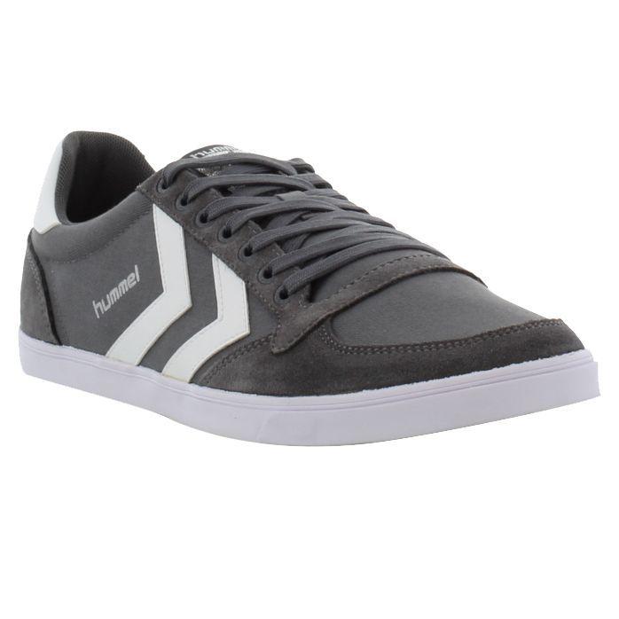 Hummel shoes, Mens Slimmer Stadil Low Castlerock White Khaki - £36.99