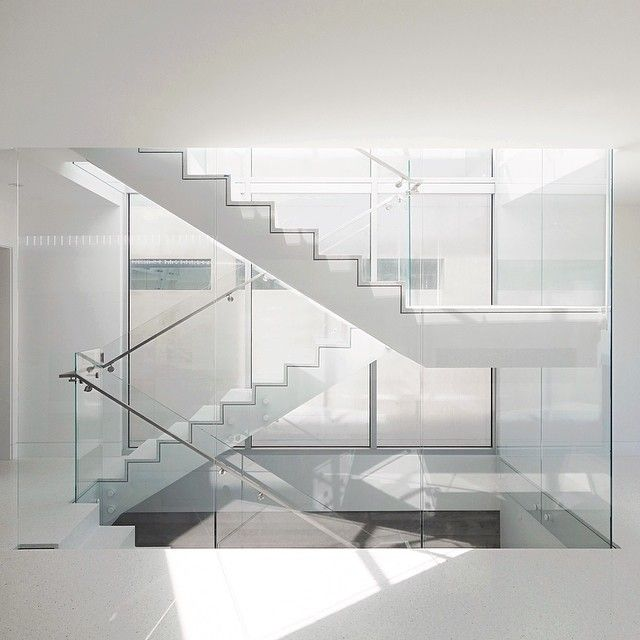 Terrazzo And Glass Stairs