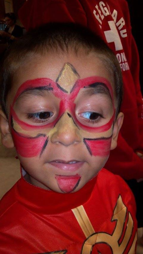 Red Power Ranger Mask 4 Year Old Face Painting Designs Power Ranger Party Face Painting