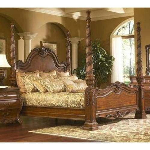 Canterbury design canterbury queen post bed great design Southampton walnut king bedroom collection