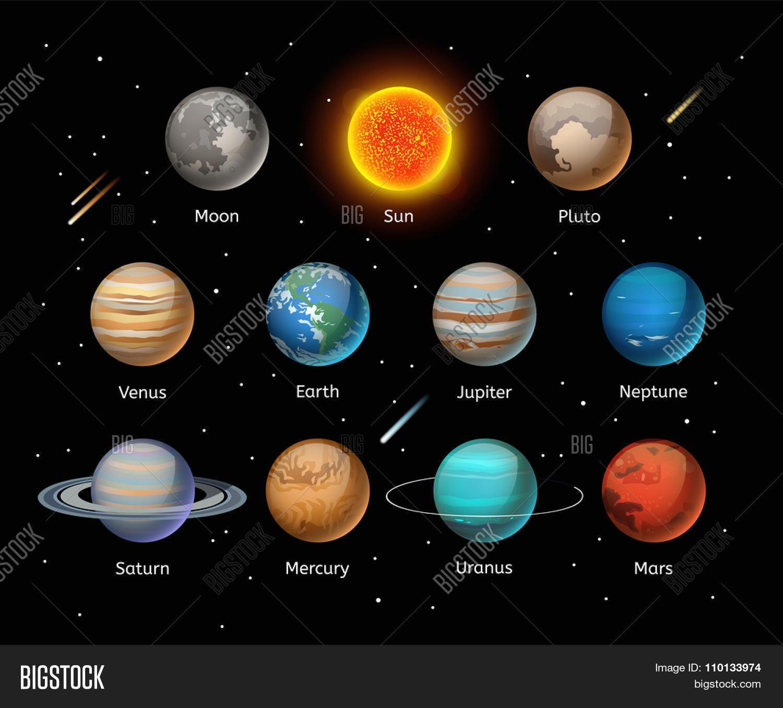Afbeeldingsresultaat Voor Planets Illustration Planet Vector Planet Colors Planets