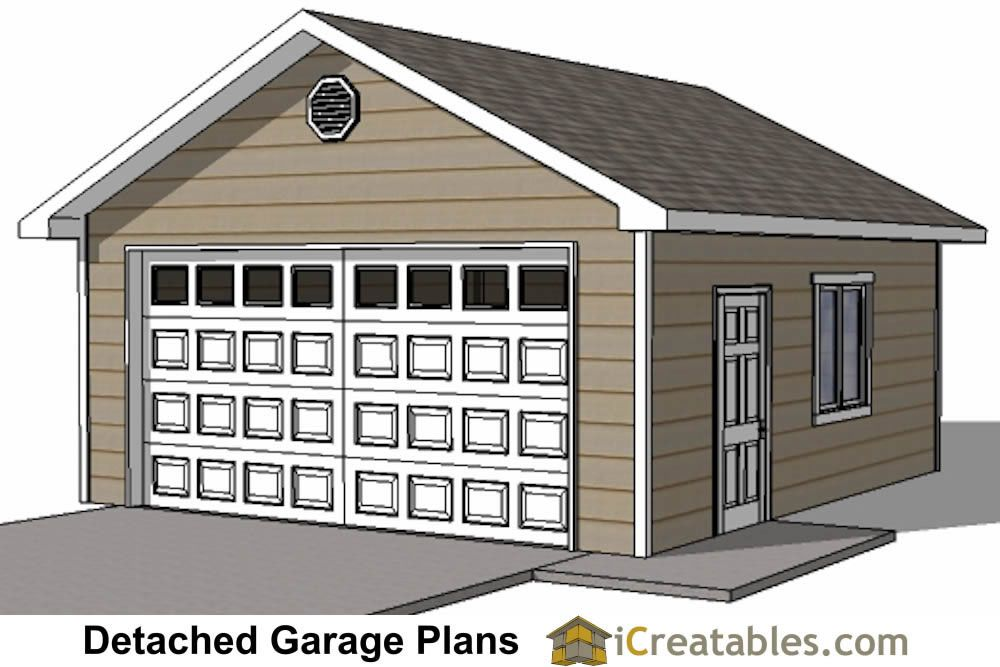 20x20 Detached Garage Plans Large Garage Plans Garage Design Garage Plans Detached
