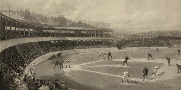 Baseball Match by Vintage Sports