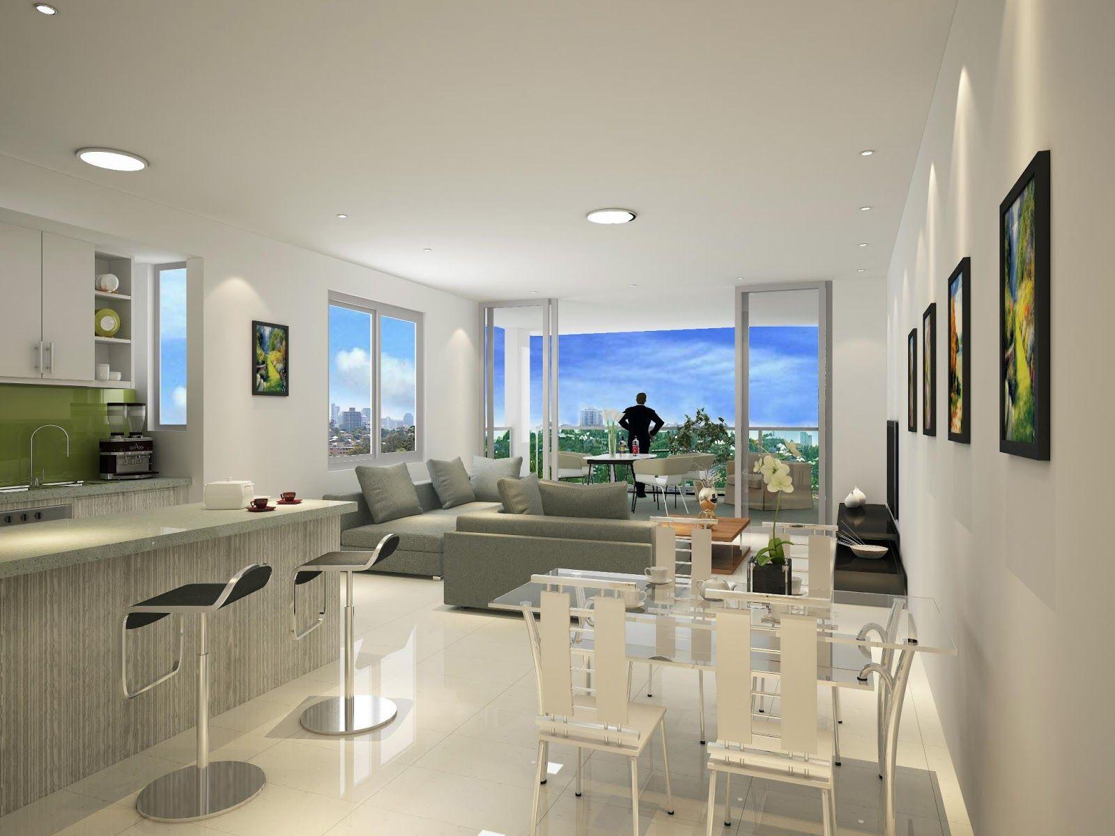 Salas modernas de estar e jantar sala moderna casa for Salas modernas de casas