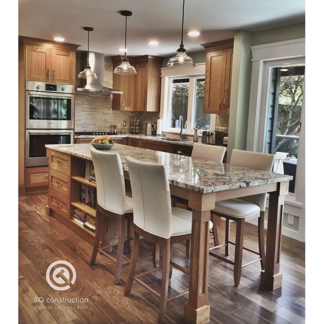 Custom Kitchen Island Dining Table Hybrid Whether You Re Cooking Dining Or Socializing Kitchen Island Dining Table Kitchen Cabinet Layout Kitchen Remodel