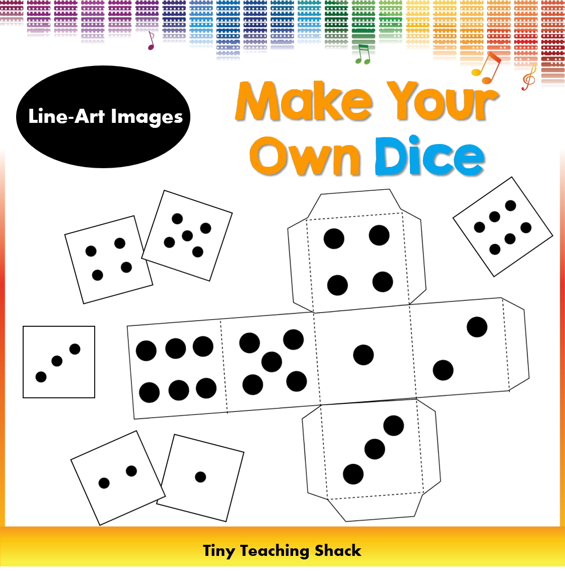 how to make a dice template