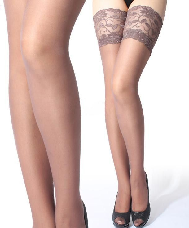 9dd67d0984b7d EQ6623 Sexy Girls Floral Lace Top Thigh High Ultra Sheer Stockings Tights  Lingerie