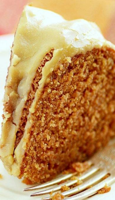 Applesauce Cake  & Salted Caramel Glaze