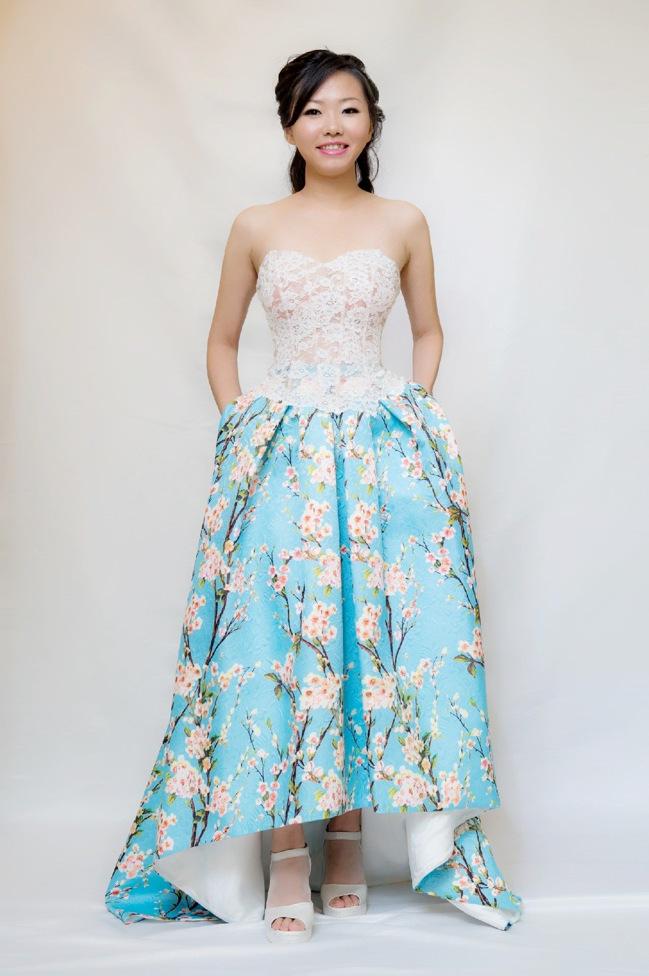 Dear fans, we have new printed bustier evening gown. To view and ...