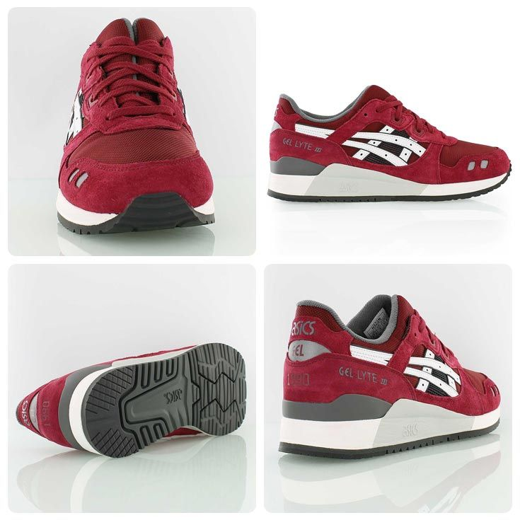 e1dee9e34f71 Classy  the maroon burgundy version of the Asics Gel-Lyte III from the new  Varsity Suede Pack