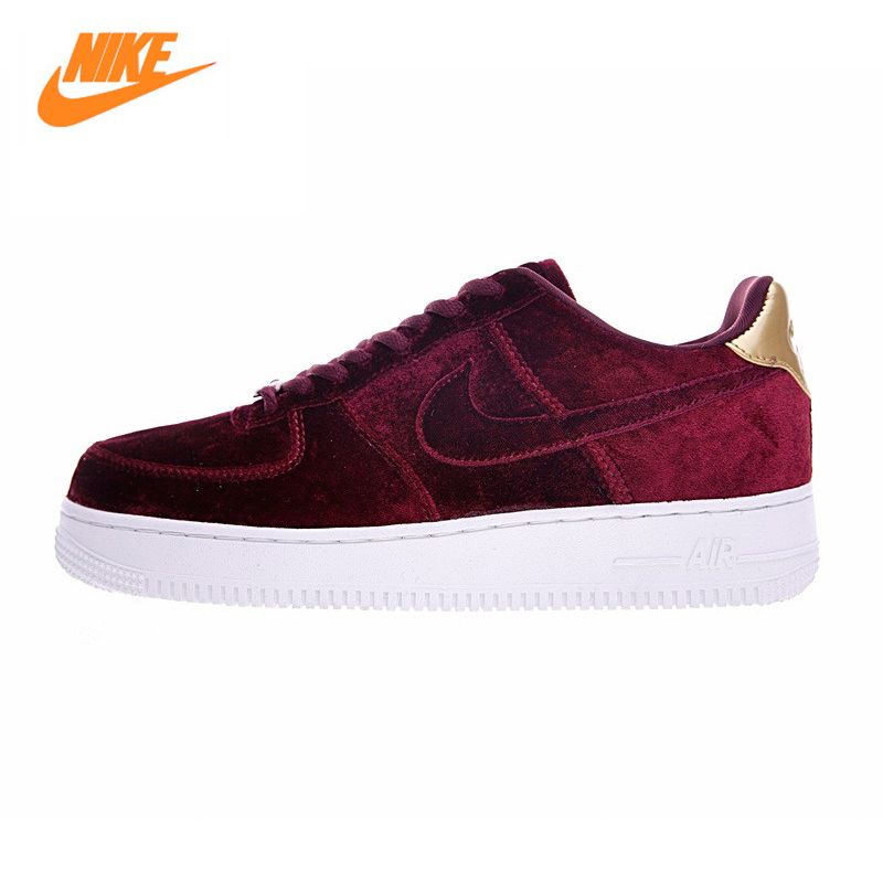 bulto Combatiente Malgastar  Nike AIR FORCE 1 VELVET AF Women Skateboard Shoes, Velvet Wine Red Velvet  Sneaker Skateboard Shoes 896185 | Velvet sneakers, Nike air, Sneakers