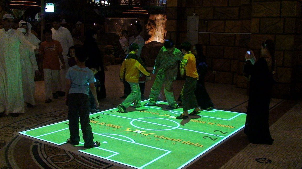 An Interactive Floor Projection System How Fun Would This