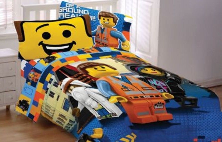 New Lego Movie Full Sheet 4 Pc Set Emmet Brick Fitted Flat 2 Pillow Case Bedding Pillow Case Bed Twin Bed Sheets Bedding Accessories