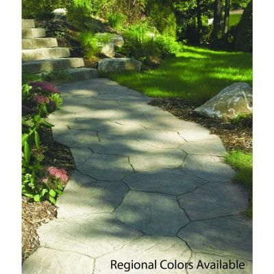 Oldcastle Portage 21 In. X 15.5 In. X 1.75 In. Sand/Tan Irregular Concrete  Step Stone (90 Pieces / 134 Sq. Ft. / Pallet) 12100313   The Home Depot