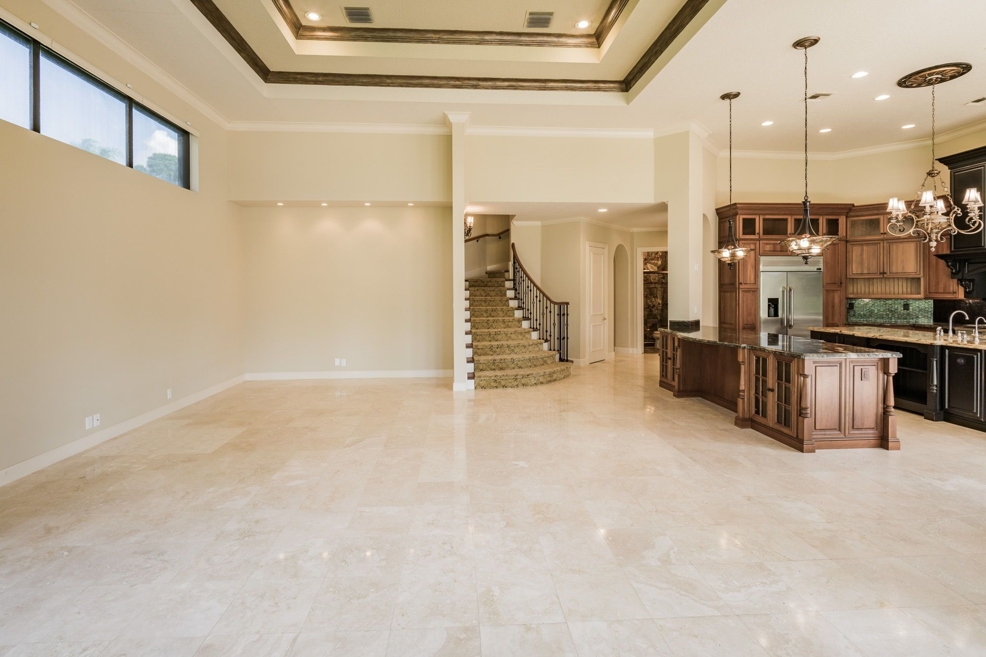 The Family Room Is Open To Kitchen
