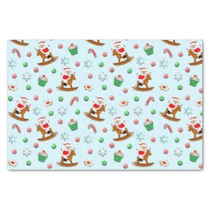 Equestrian Christmas Tissue Paper Christmas Craft Supplies