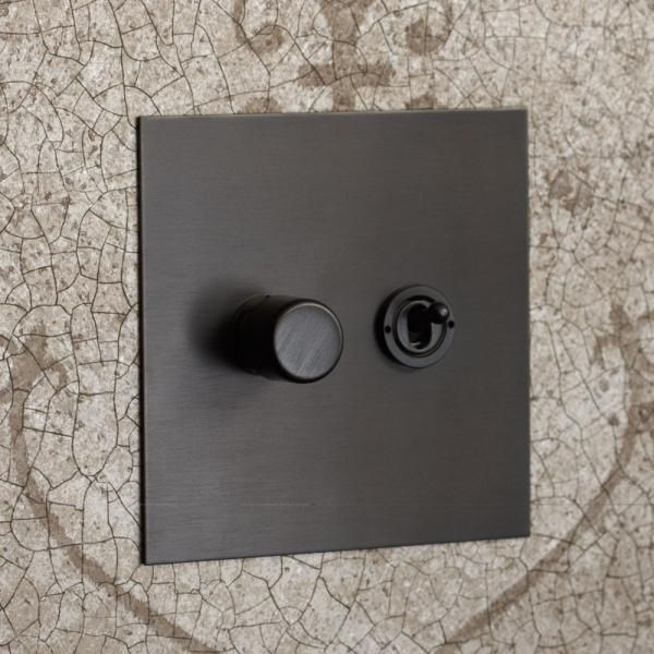 Antique Bronze Rotary Dimmer With Toggle Switch Antique Bronze Lighting Light Switches And Sockets Antique Bronze