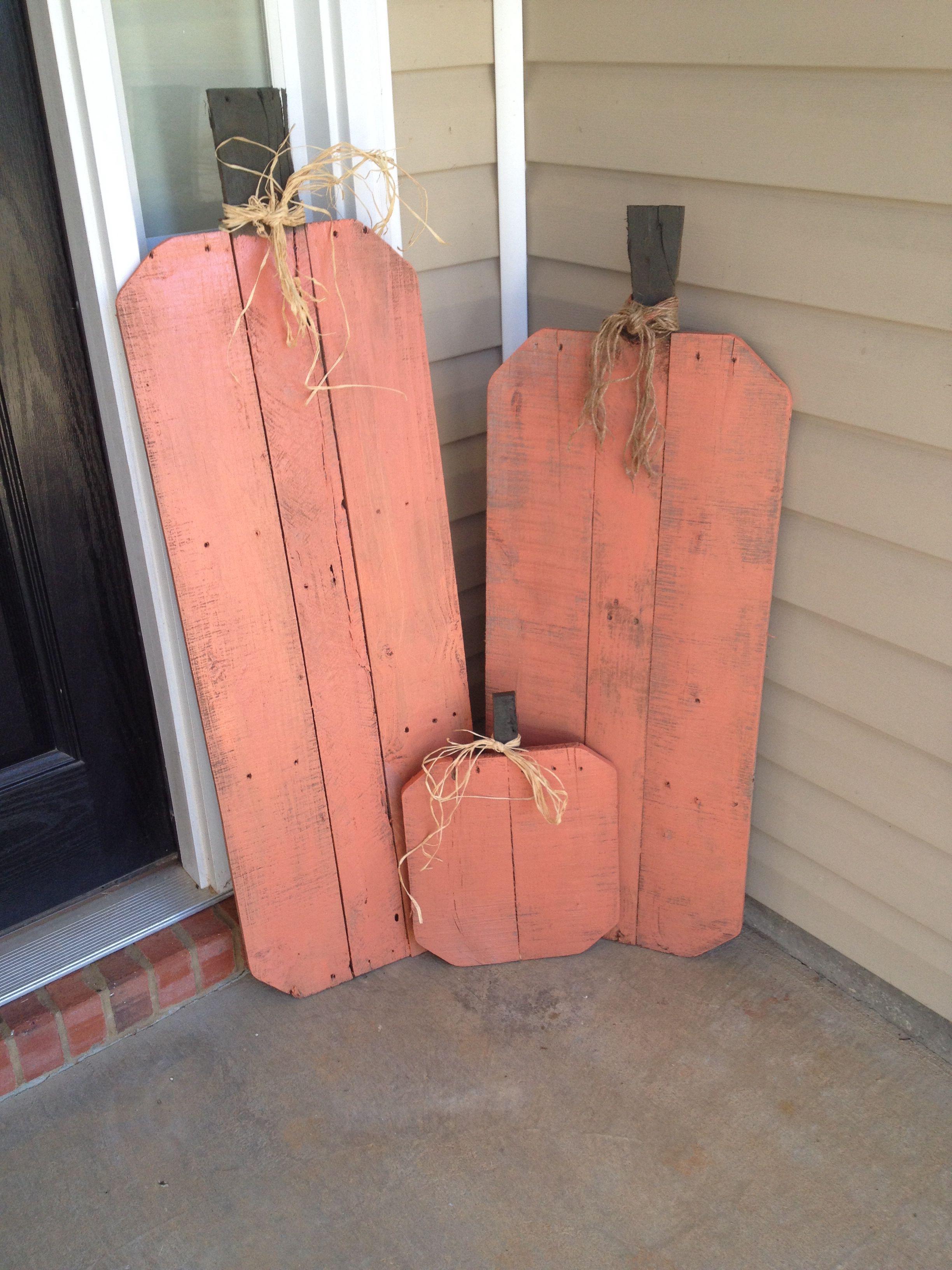 Pallet Pumpkins Fall Decorating Wood Crafts