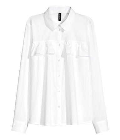 Ruffled Blouse | White | Ladies | H&M US