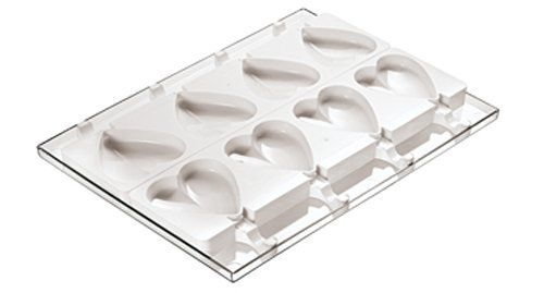Paderno World Cuisine Ice Cream Molds, Tray and 50 Sticks, Heart Shaped, Set of 2 by World Cuisine. $153.17. Molds are made of silicone. 12 individual mold imprints. Heart-shaped. Engineered in italy by paderno world cuisine. Additional sticks are item 41466-50. The Paderno World Cuisine set of two heart-shaped ice cream molds comes with a holding tray and 50 sticks.. Each mold has 6 individual imprints and both molds combined have 12. The molds are made of silicone, the tray...