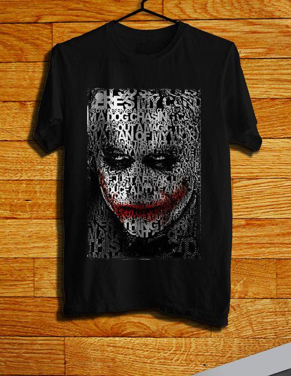 Joker Typography Face Men TShirt  Batman TShirt  by CHILITY, $19.99