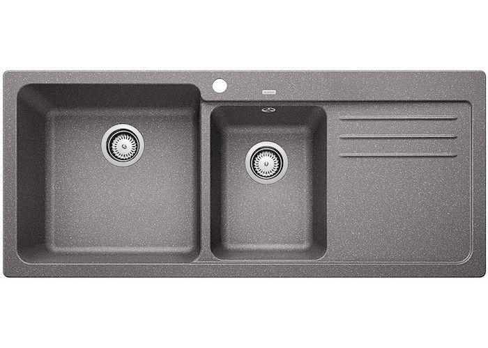 Blanco Naya 8S Double Bowl + Drainer Grey   Sinks, Granite and Bowls
