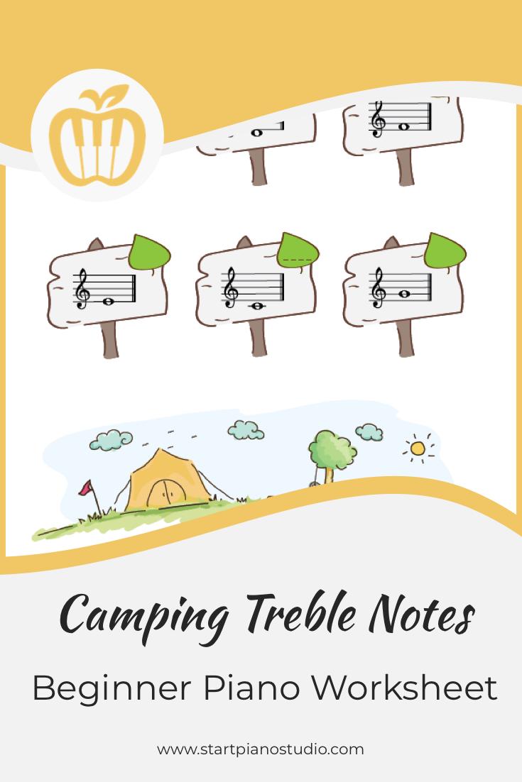 Camping Treble Notes Piano Heroes Piano Teaching Piano Worksheets Teaching Music [ 1102 x 735 Pixel ]