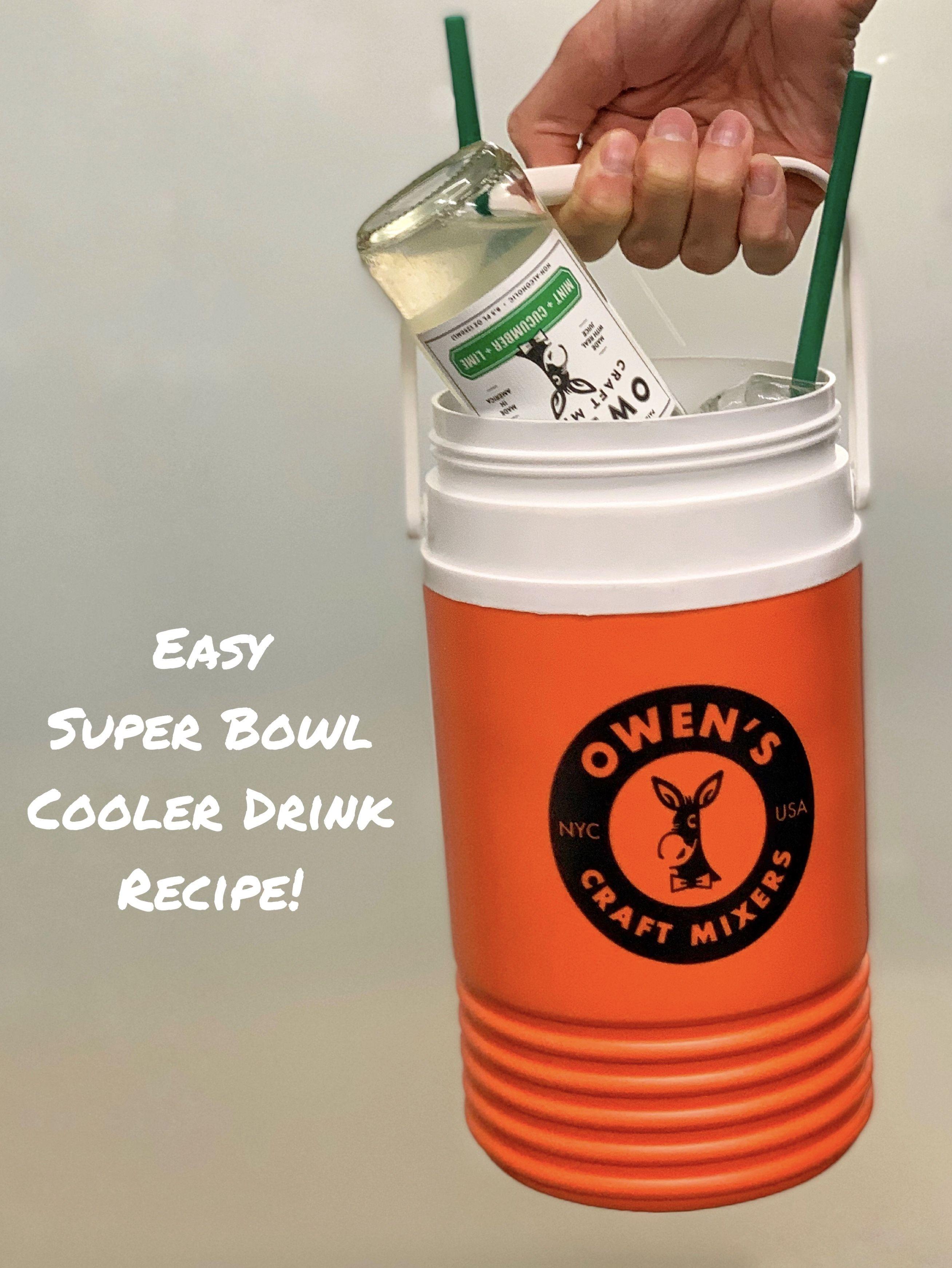 Super Bowl Cooler Drink Recipe In 2020 Drinks Cooler Drink Recipes Milkshake Drink