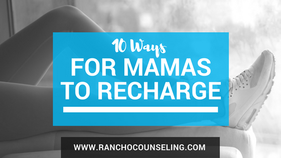 It's not fair to think that we can be present at ALL times. In order to do  all the things, mamas need to time to themselves, they need that foot  massage to get over the hump, and they need to fill their cup so they can  give to their people.  Here are 10 things you can do to recharge your batteries that I think are  so much better than that crumby foot massage machine: