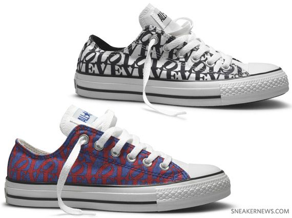 7319d42ad163 Converse All Star Robert Indiana - LOVE - White - Black + Blue - Red ...