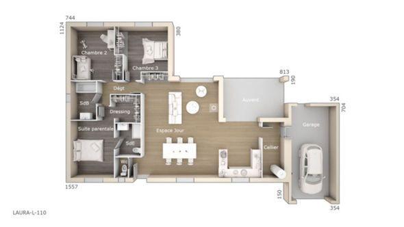 maison laura 110 design les maisons de manon faire construire sa maison - Faire Les Plans De Sa Maison