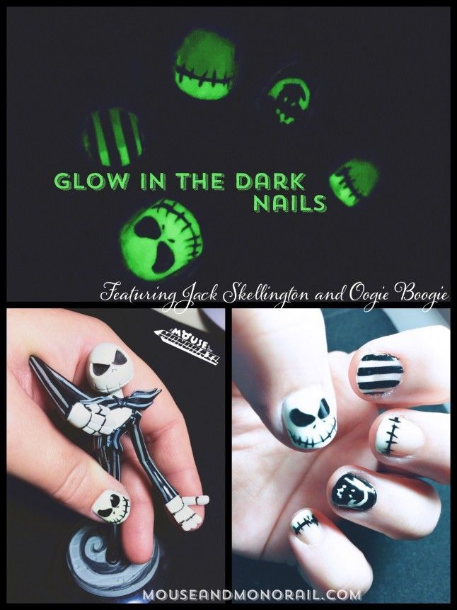 Glowing Halloween Nails | Dark nails, Disney nails art and Disney nails