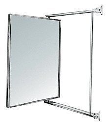 CRL 14 X 22 Chrome Swing N Vue Double Hinged Mirror By Bathroom