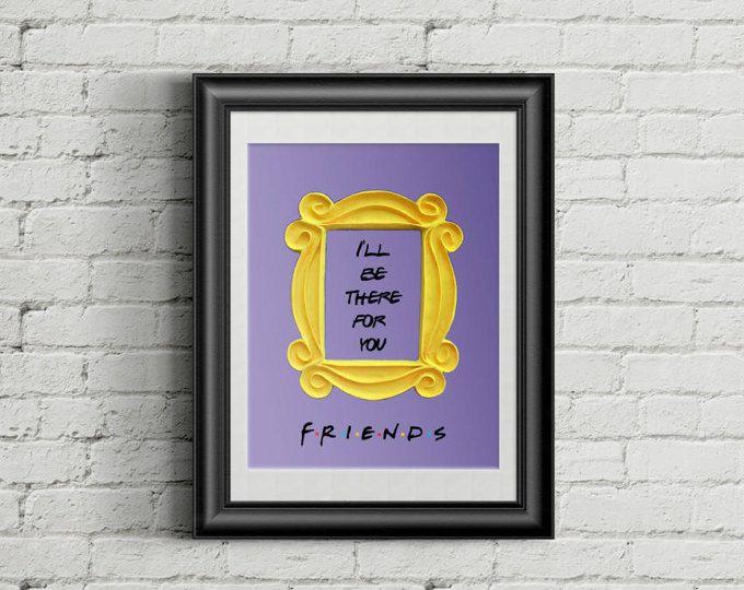 FRIENDS tv show printable poster friends peephole frame friends door ...