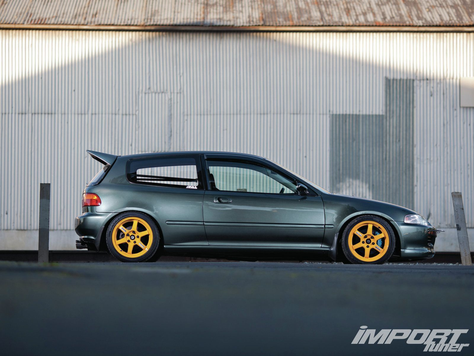 Impp 1302 12 O+1994 Honda Civic+volk Racing Te37 Wheels (1600×1200)