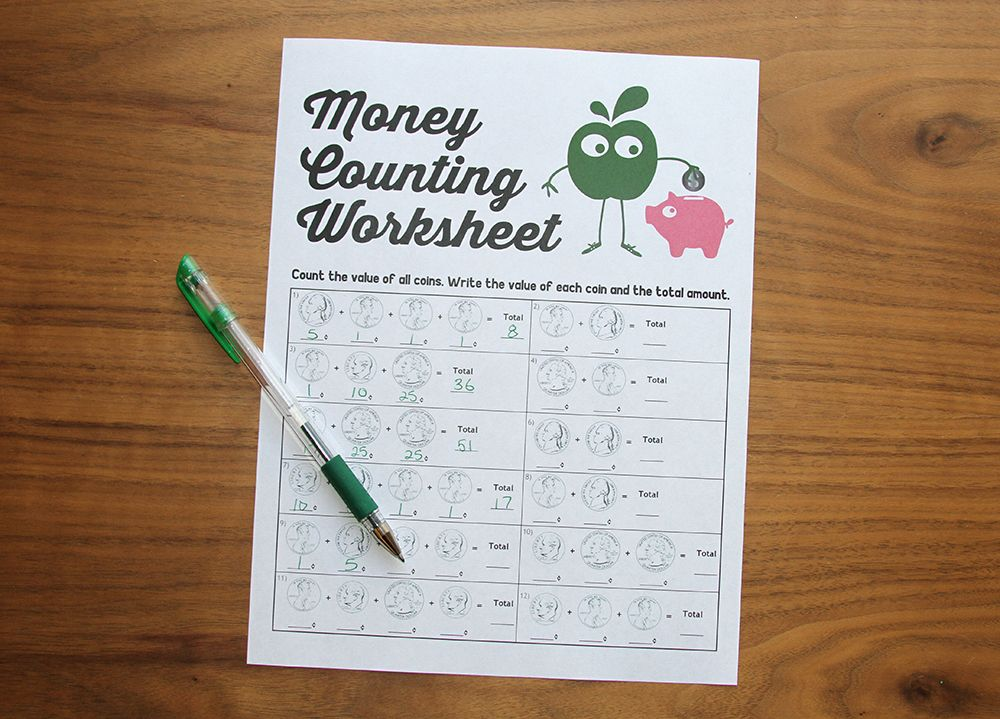 How To Teach Kids About Money Money Counting Worksheet Go Green