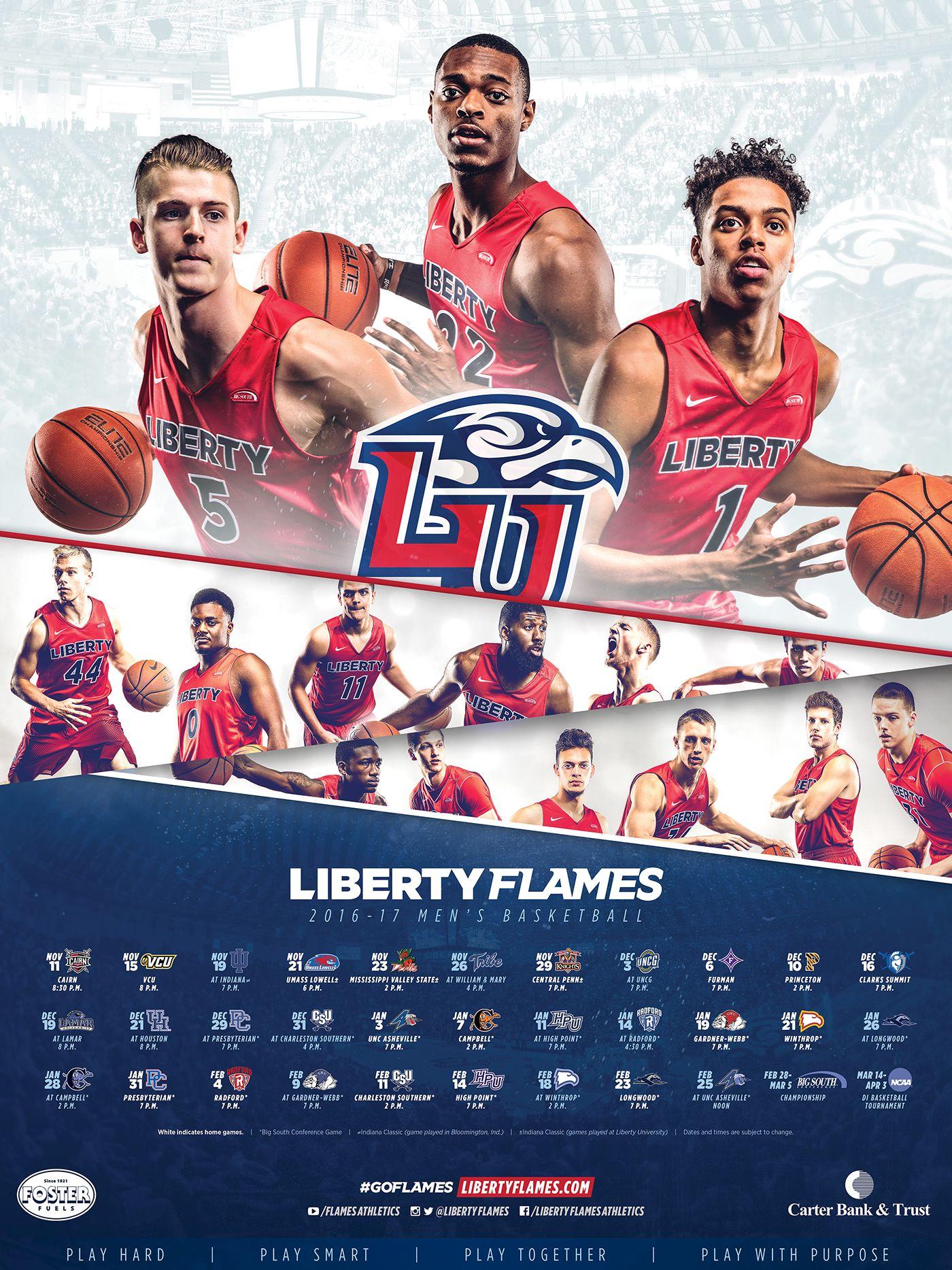2016 17 Liberty Men S Basketball Campaign On Behance Mens Basketball Sports Advertising Sports Design