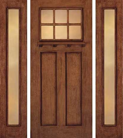 High Quality Craftsman Door With Full Length Sidelight.