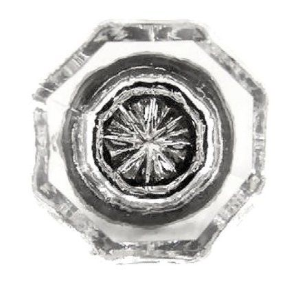 clear crystal octagon glass cabinet knobs 12 drawer pulls