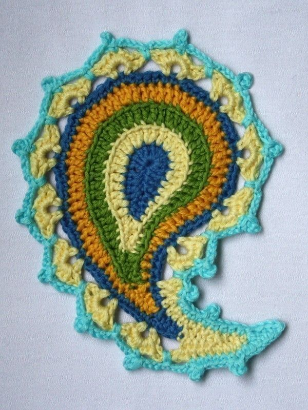 Paisley Floral Crochet Pattern Coasters Crochet And Floral